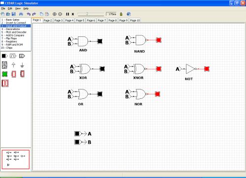 rangkaian digital, design, CEDAR LS, gerbang logika, Electonic design