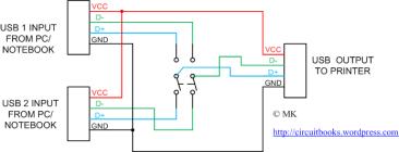 USB switch, schematic, rangkaian, gambar, usb male, usb type A, diagram, padang, Sumbar, Indonesia